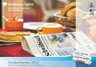 Vorschau Sonderthemen 2012 - Schwäbisches Tagblatt