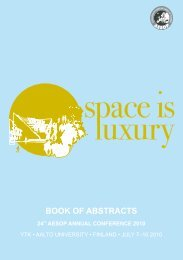 Book of Abstracts (pdf) - aesop 2010