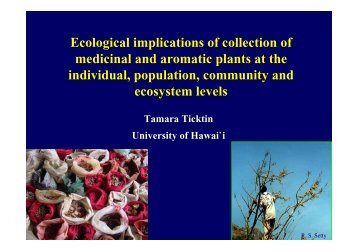 Ecological implications of collecting MAPs on population ... - FloraWeb