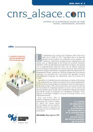 Télécharger le numéro - CNRS - Délégation Alsace