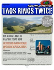 it's august - time to beat the texas heat - Sport Ryder Rentals