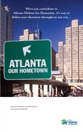 When you contribute to Atlanta Habitat for Humanity, it's easy to ...