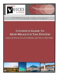 Citizen's Guide to New Mexico's Tax System Citizen's Guide to New