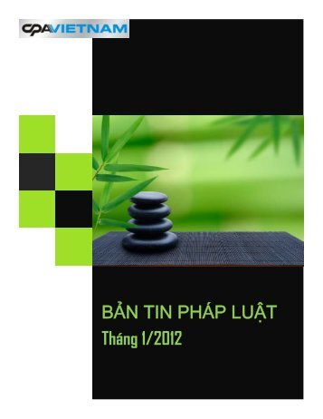 Ban tin Phap luat thang 1-2012