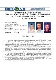 qualitative analysis of the 2004 men's 18 european handball ...