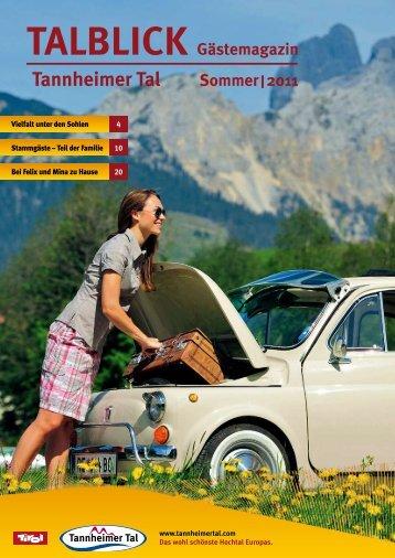 TALBLICK Gästemagazin Tannheimer Tal Sommer | 2011