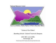 Boarding School - National Resource Center for American Indians ...