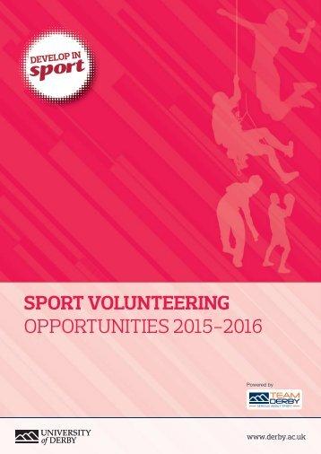 Sport Volunteering Opportunities Handbook MC