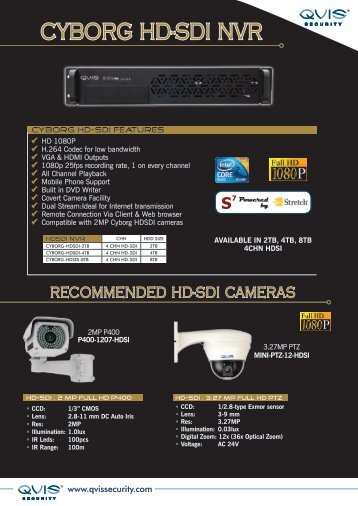 CYBORG HD-SDI NVR - Qvis Security
