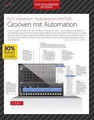 AudioRealism ADM Teil 1 - Grooven mit Automation ... - plasticAge.de