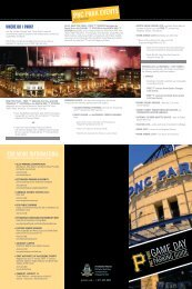 FOR MORE INFORMATION: FOR MORE ... - City of Pittsburgh