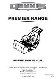 Instruction Manual for Dennis Premier Series (pdf - 4.8mb)