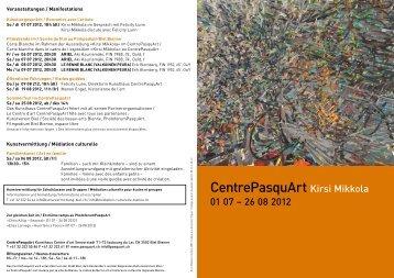 Einladungskarte - Centre PasquArt