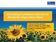 Estimating Confidence Intervals for Metabolite Degradation Rates