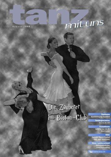 Tanz mit uns - Ausgabe August 2008 - Tanzspiegel Gebiet West - DTV