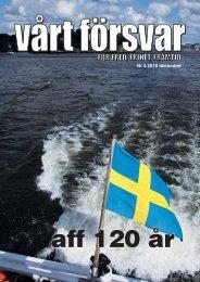 Nr 4/ 2010 Årgång 122 - Allmänna Försvarsföreningen