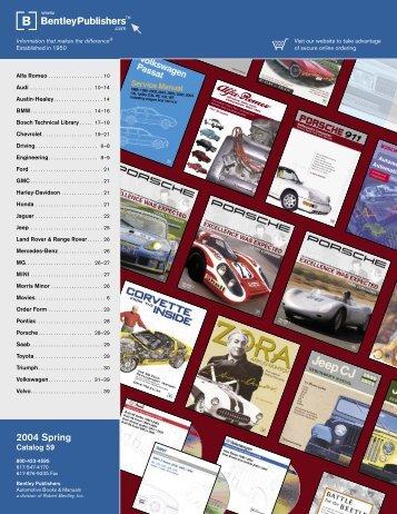 2004 Spring - Bentley Publishers