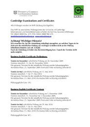 Cambridge Examinations and Certificates Achtung ... - WIFI Salzburg