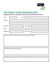 The Virgin London Marathon 2014 - Bowel Cancer UK