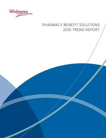 2010 Drug Trend Report - WalgreensHealth.com