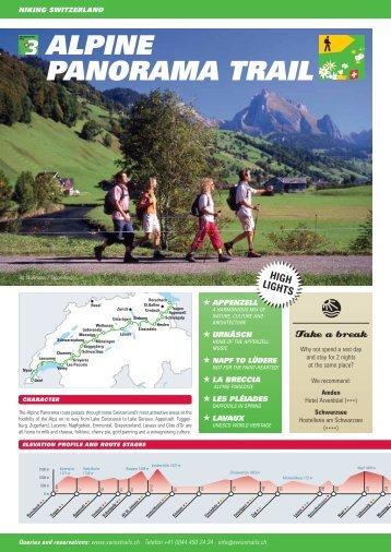 ALPINE PANORAMA TRAIL - Swiss Trails