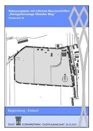 Begründung - Entwurf - Stadt Kornwestheim