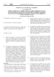 RÈGLEMENT (CE) No 1095/2007 DE LA COMMISSION ... - EUR-Lex