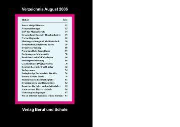 Verlag Beruf und Schule Verzeichnis August 2006 - PDF-Site