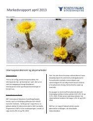 Markedsrapport 04/2013 - Fondsfinans