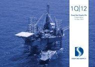 1st Quarter 2012 Presentation - Deep sea supply