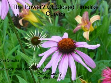 The Power? Of Closed Timelike Curves - UFF