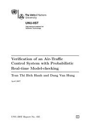 Verification of an Air-Traffic Control System with Probabilistic Real ...
