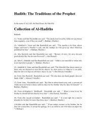 Hadith: The Traditions of the Prophet - Teachislam.com