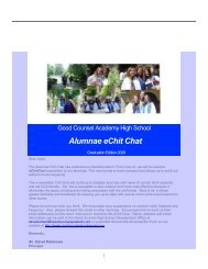Alumnae eChit Chat - Academy of Our Lady of Good Counsel High ...