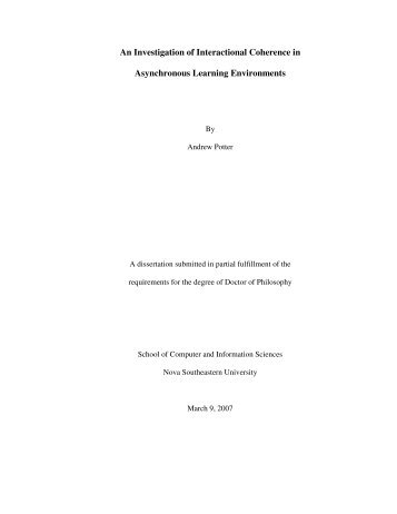 An Investigation of Interactional Coherence in Asynchronous ...