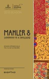 Download the Mahler 8 program book  - Sydney Symphony Orchestra