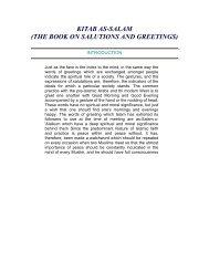 kitab as-salam (the book on salutions and greetings) - Teachislam.com