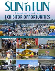 Exhibit Opportunities at SUN 'n FUN International Fly-In & Expo