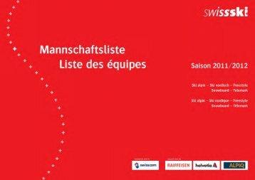 Mannschaftsliste Swiss Ski