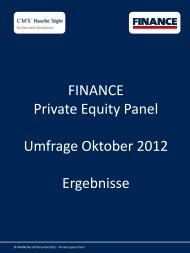 Umfrage Oktober 2012 - Finance Magazin