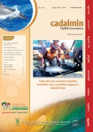 1 Cadalmin : CMFRI Newsletter No. 132 - Eprints@CMFRI - Central ...