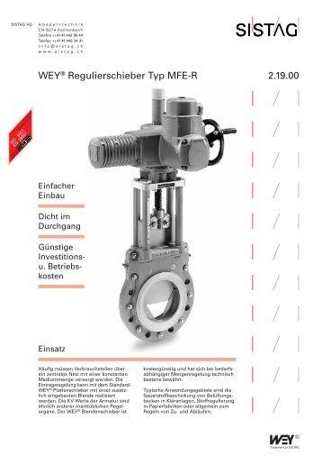 WEY® Regulierschieber Typ MFE-R 2.19.00