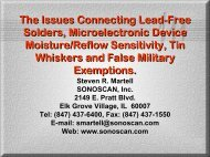 Lead-Free Process and Component Damage Assessment ... - SMTA