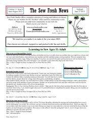 Vol. 13 Issue 6 Summer updated June 27, 2013 ... - Sew Fresh Studio