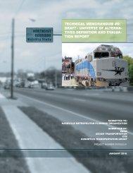 DRAFT Technical Memo #5 - Evaluation of Alternatives (PDF)