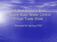 EPA New England Boat Pressure Wash Water Control Virtual Trade ...
