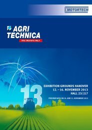 How to find us at the AGRITECHNICA - Motortech GmbH