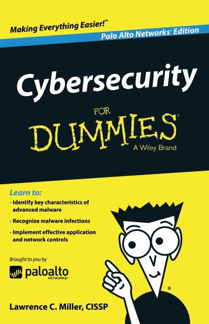 Palo-cybersecurity-for-dummies