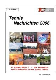 Tennis Nachrichten 2006 TC Halden 2000 eV