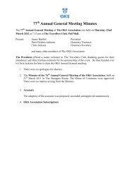 AGM 2012 Minutes - The OKS Association